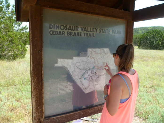 Map at the trail head