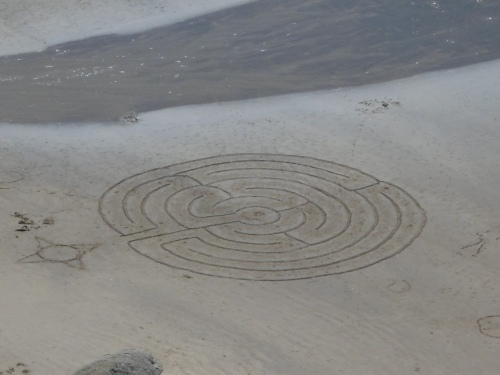 Pictograph on the beach