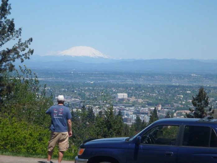 Greg checking out Mt. Adams