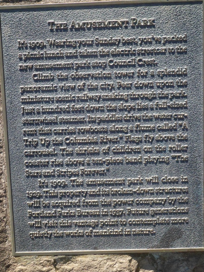 Plaque at Council Crest