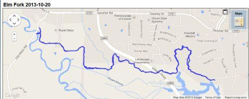Elm Fork route