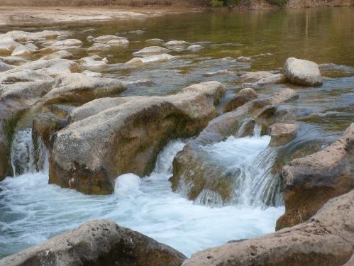 Close up of Sculpture Falls