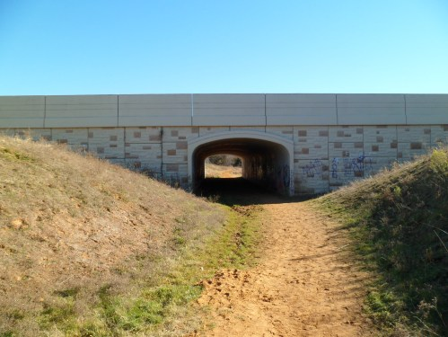 tunnel under a road along the trail