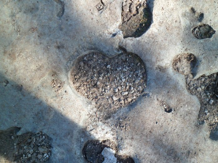 heart shaped hole (Guy Forsyth reference)