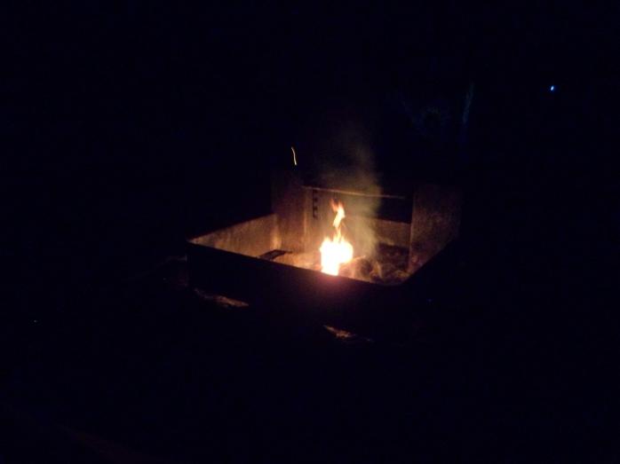 Ian's first fire attempt