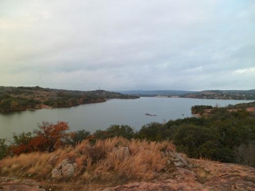 overlooking Inks Lake