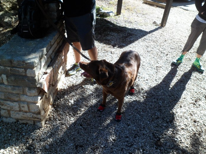 Sam's boots were a hit among the other hikers on the trail