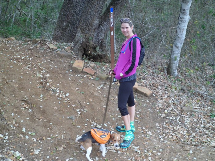 Court and Biff at the trail head