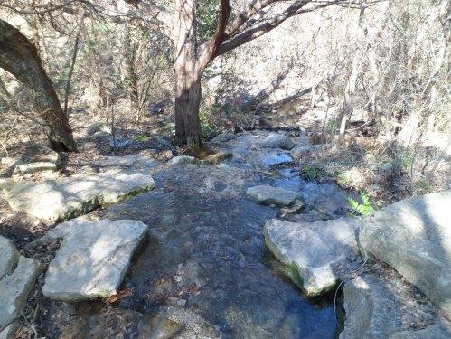 stream at the trail head
