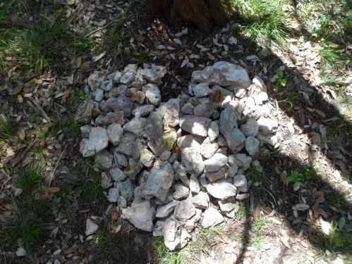 rock heart on side of the trail