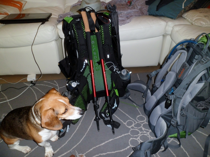 Biff doing pre-trip equipment check