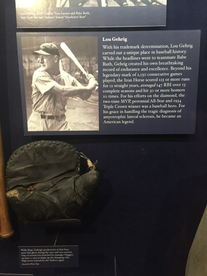 Lou Gehrig - one of my favorites and the reason I was #4