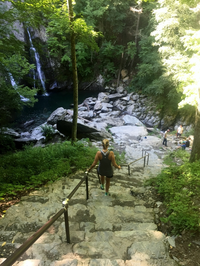 Steps down to the Falls