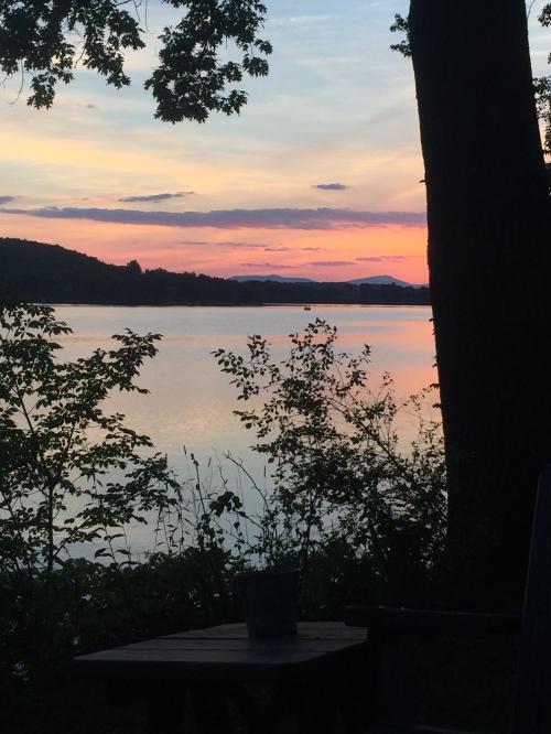 Last sunset over Copake Lake