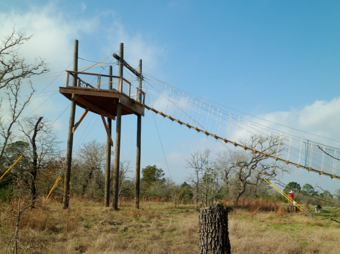 Zip line tower